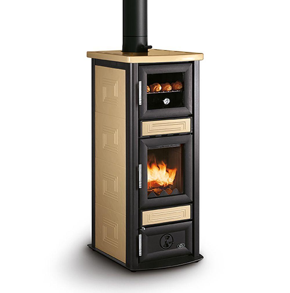 stufa a legna royal stuba con forno da 9,8 kw