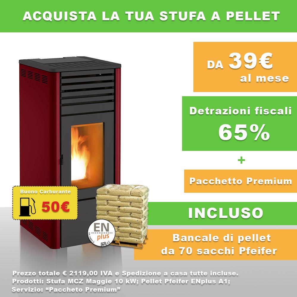 Stufa A Pellet Canalizzata Mcz Maggie Comfort Air 10 Kw Bordeaux In Classe A Inclusi 70 Sacchi Di Pellet