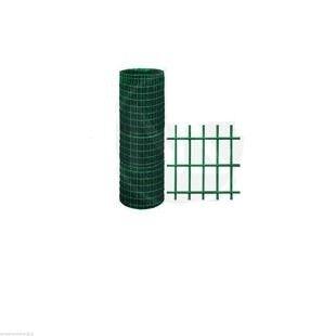 Rotolo 25mt Rete Recinzione Metallica Plastificata 120 Cm Verde Elettrosaldata 50x75