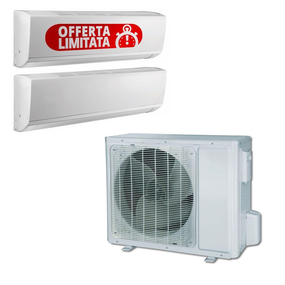 Climatizzatore Dual Split Con Inverter Plus Da 9000+12000 Btu In Classe A++