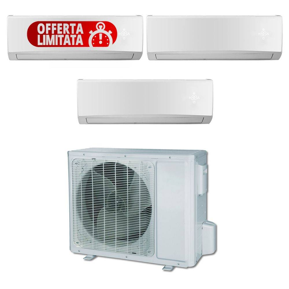 Climatizzatore Trial Split Con Inverter Plus Da 9000+9000+9000 Btu In Classe A++