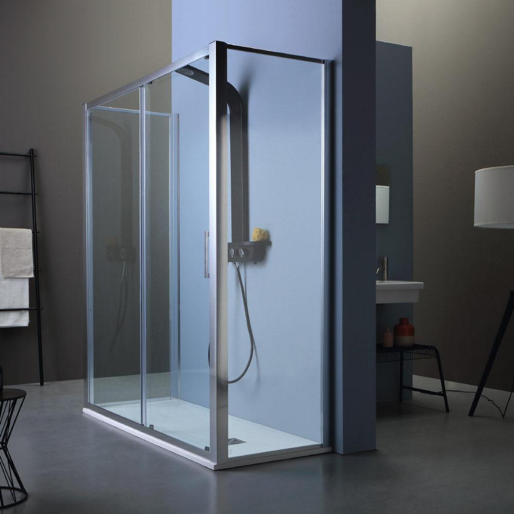 Tamanaco FREE - Box doccia con porta scorrevole e due lati fissi