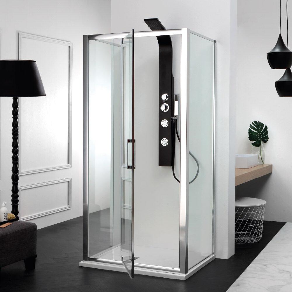 Tamanaco FREE - Box doccia con porta a battente e due lati fissi