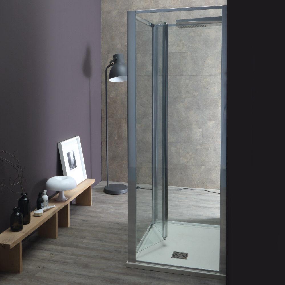 Tamanaco WIND - Box doccia con porta a soffietto e due lati fissi