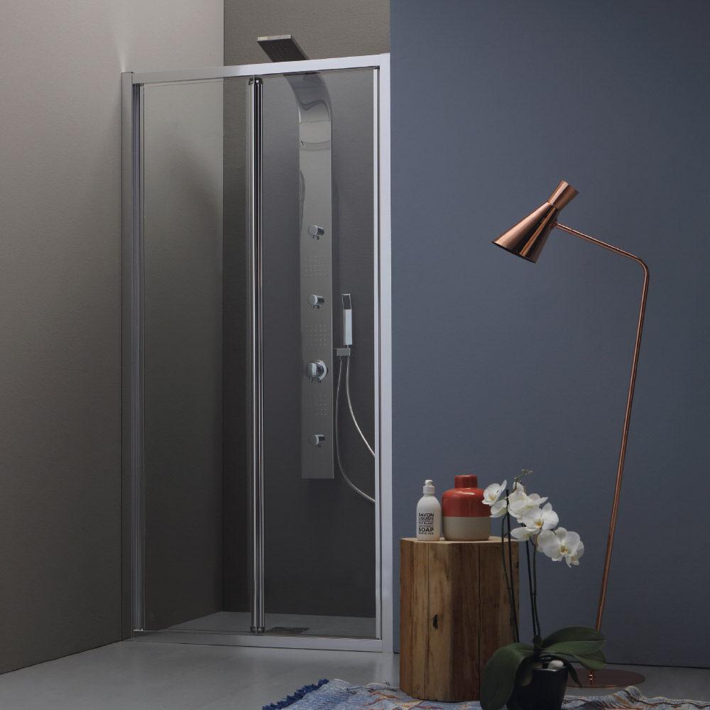 Tamanaco WIND - Box doccia a nicchia con porta a soffietto
