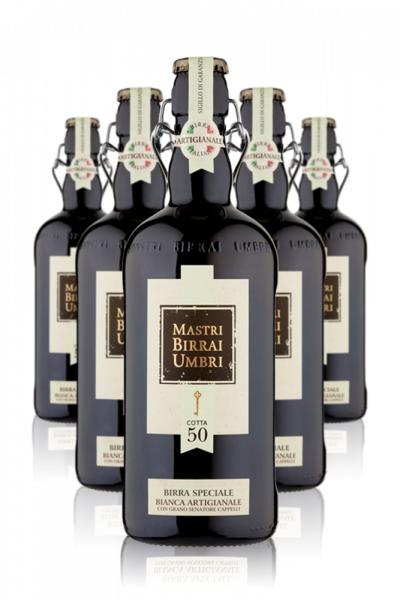 Mastri Birrai Umbri Cotta 50 Birra Speciale Bianca Cassa da 6 bottiglie x 75cl