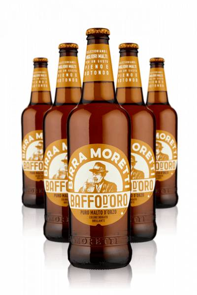 Moretti Birra Moretti Baffo d'Oro Cassa da 15 bottiglie x 66cl