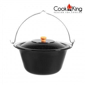 Cookking Pentola in acciaio smaltato per barbecue - capacità 14 litri
