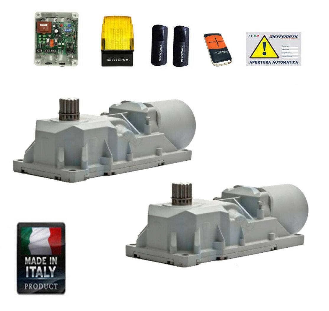 kit motorizzazione automatismo per cancello battente interrato roller 770n 230v