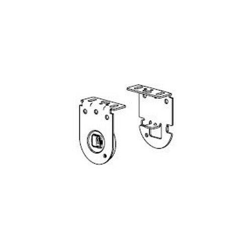 kit staffe bianche con flangia per rulli acmeda s45 nice 523.10018 automazione