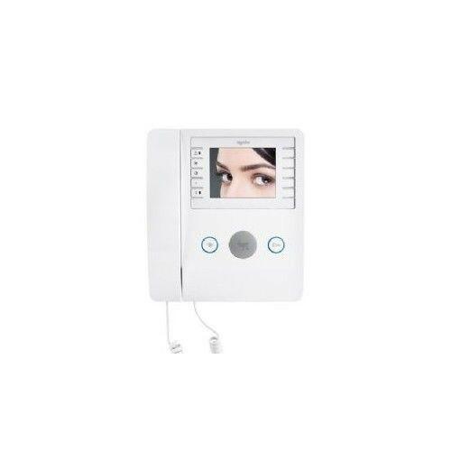 """videocitofono a cornetta lcd 3,5"""" bianco came agata vc200bf 62100410 sicurezza"""