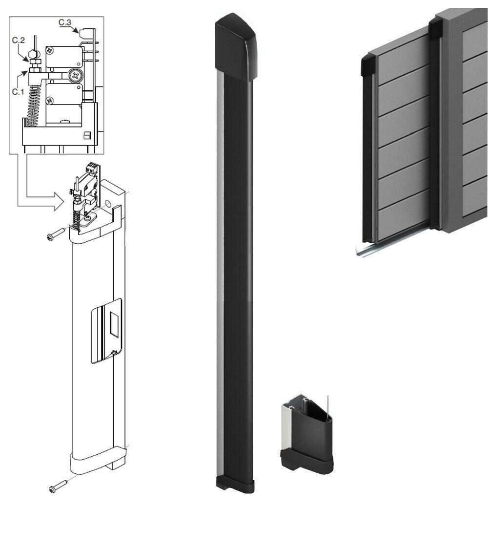 bordo sensibile costa di sicurezza a filo 200 cm cm20 2mt meccanica gomma barra