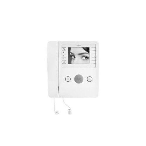 """videocitofono a cornetta lcd 3,5"""" b/n colore bianco came agata v 62100460"""