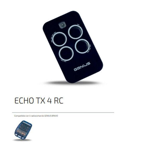 Genius Telecomando Radiocomando Trasmettitore Faac Genius Echo Tx4 Rc 6100334 Ex Bravo
