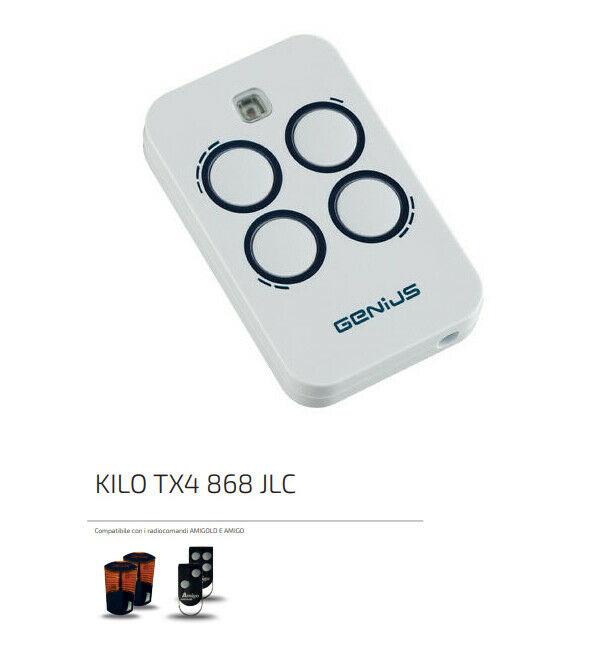 Genius Telecomando Radiocomando Apricancello Genius Kilo Tx4 6100333 868 Mhz Originale