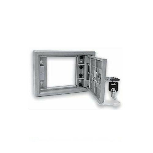 Scatola In Alluminio Con Serratura Tubolare Acm Sportello Blindato 1520102 Nuovo