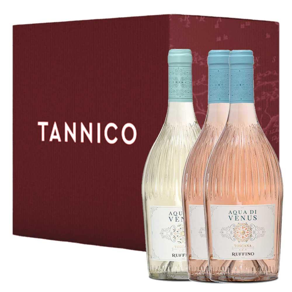 Ruffino 2 1 Bottiglie: Toscana Rosé Igt Aqua Di Venus 2020 Toscana Bianco Igt Aqua Di Venus 2020