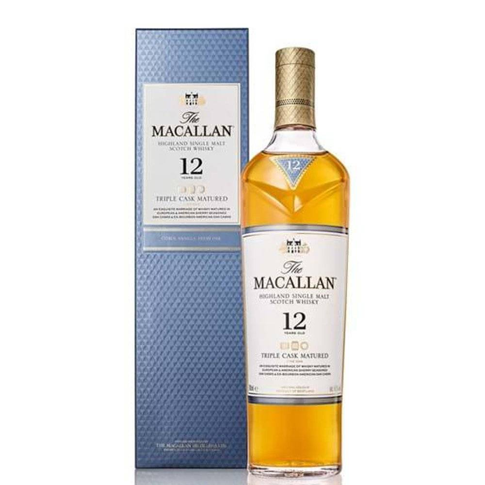 The Macallan Single Malt Scotch Whisky 12 Years Triple Cask   The Macallan  0.7l