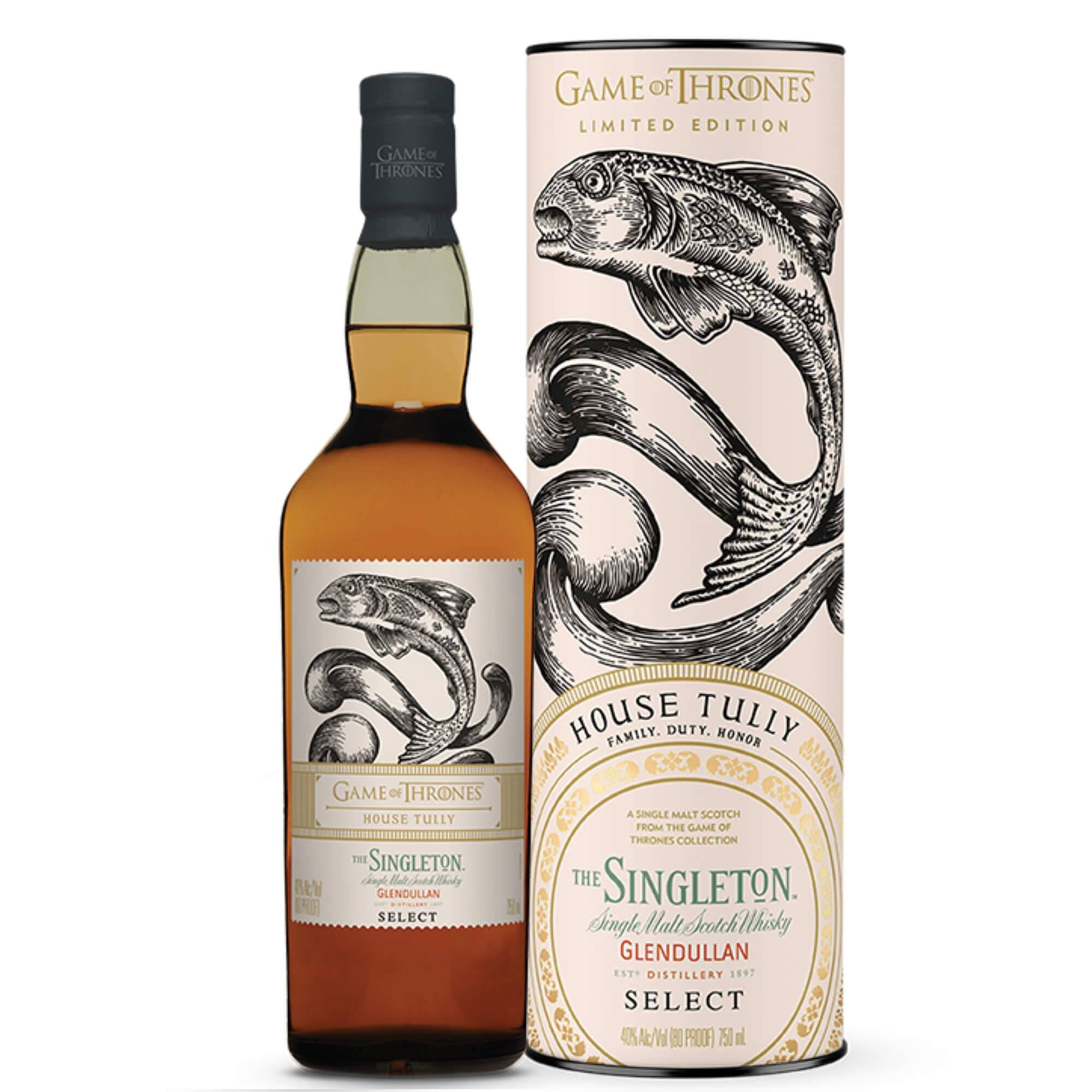 "Glendullan Distillery Single Malt Scotch Whisky ""game Of Thrones House Tully  The Singleton"""