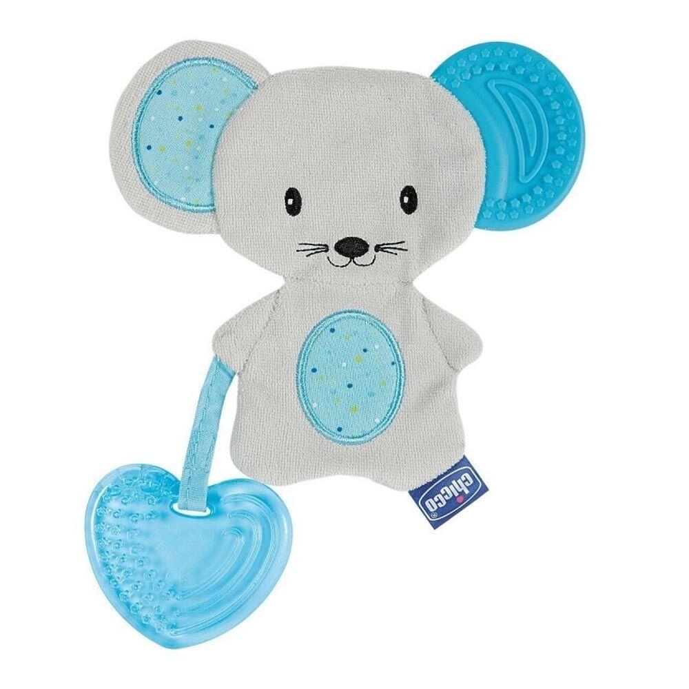 Chicco Fresh Friends 3 In 1 Massaggiagengive Dentaruolo Tessuto 4M+ Azzurro