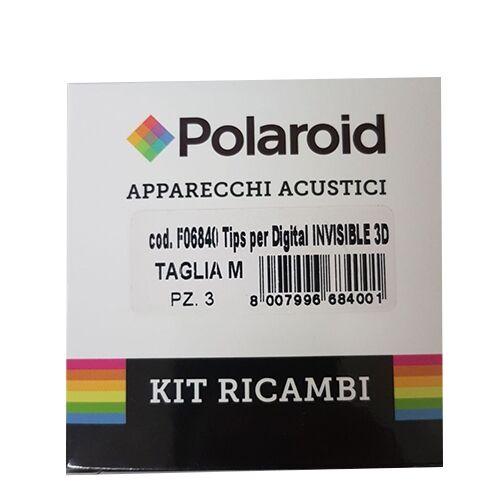 Polaroid Inserti Auricolari Per Digital Invisible 3D Taglia M 3 Pezzi