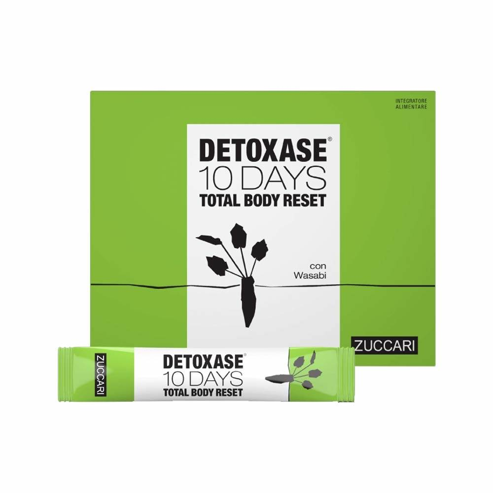 Zuccari Detoxase 10 Days Total Body Reset con Wasabi 10 Stick Pack Da 30g