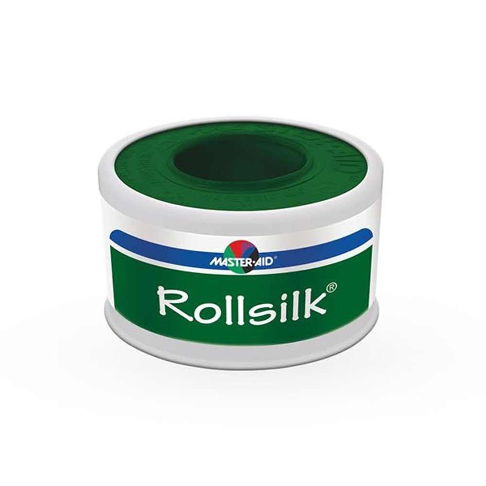 Master-Aid Rollsilk Cerotto In Seta Artificiale Bianca 5 cm x 5 m