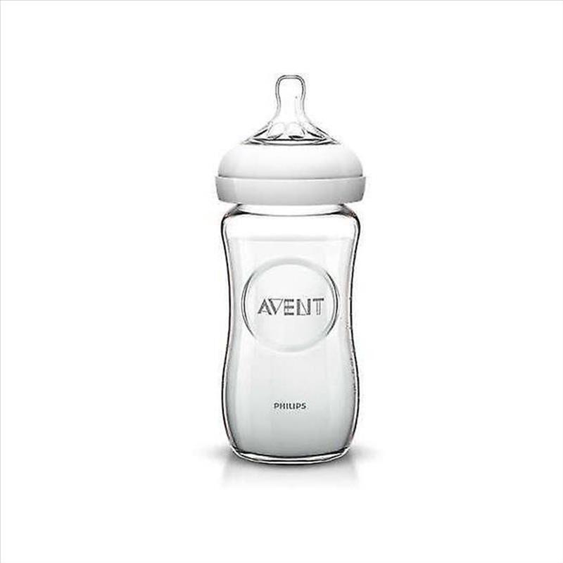 Philips Avent- Biberon Natural In Vetro, 240 ml
