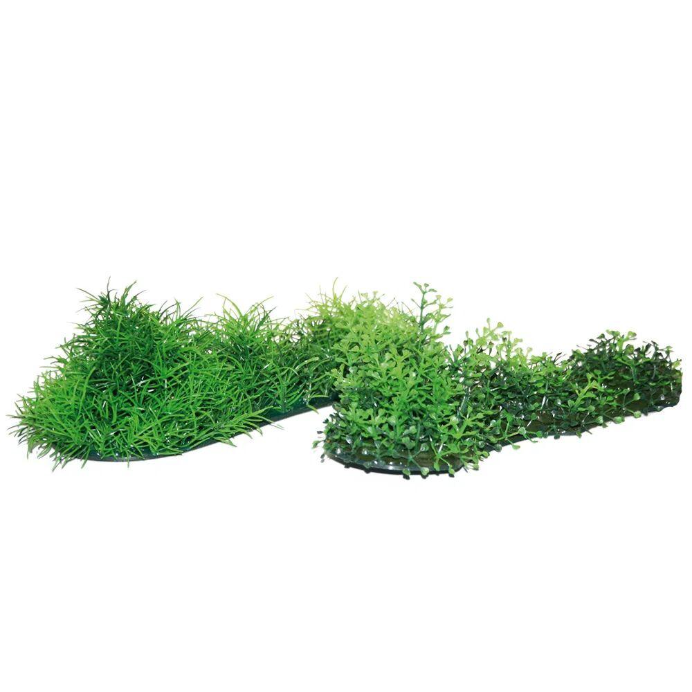croci plant replica green grass mixed cm.26x6