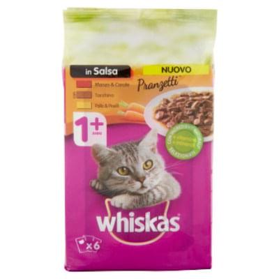 whiskas pranzetti multipack carni sapori di casa 6x50g