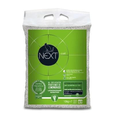 next cat lettiera extra clumping lemongrass 10kg