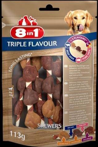8IN1 Triple Flavour Extra Meat Spiedini 100G