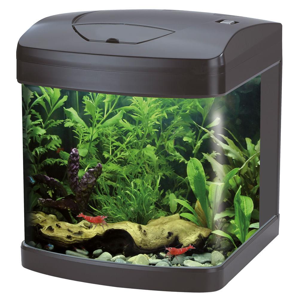 croci acquario xcube black led 26l
