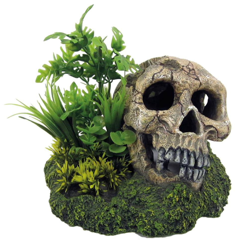 croci teschio con piante 1pz