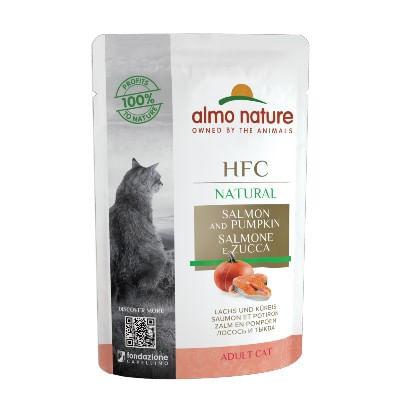 ALMO NATURE Cat HFC Natural Salmone e Zucca Busta 55G