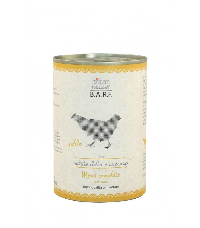 BARF Menu' Completo Trito di Pollo con Patate Dolci e Asparagi 400G