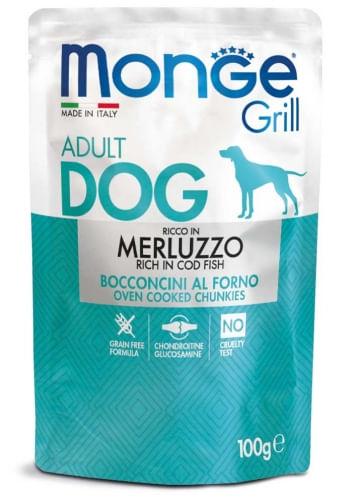 MONGE Grill con Merluzzo Adult 100G