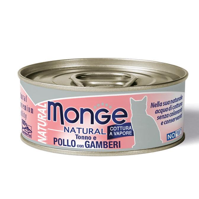 MONGE Tonno e Pollo con Gamberi Cat 80G