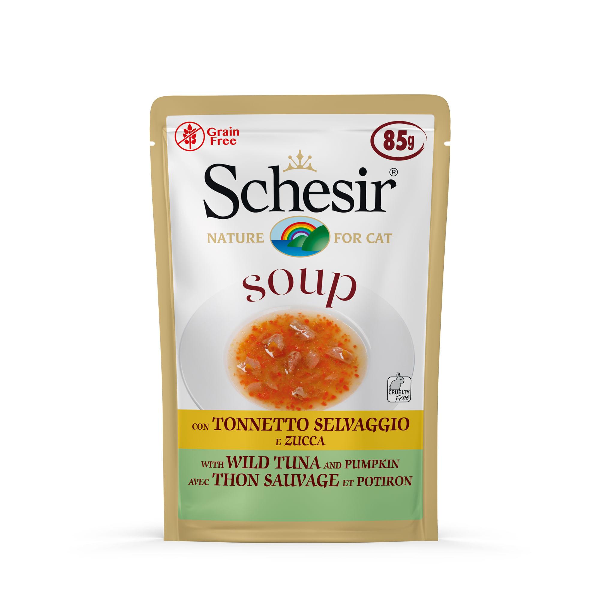 SCHESIR Cat Soup Tonnetto con Zucca 85G