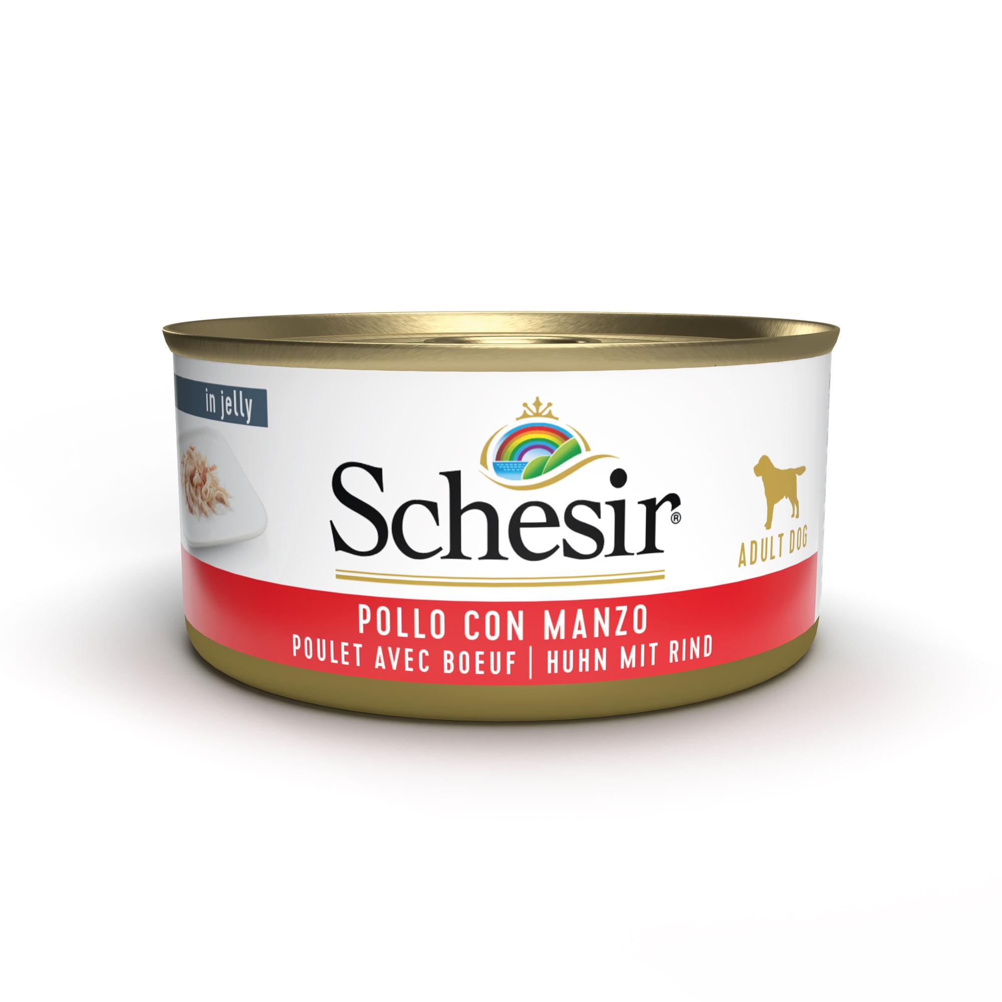 SCHESIR Dog Pollo con Manzo in Jelly 150G