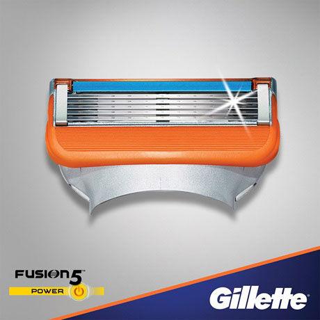 Gillette Fusion 5 Power Lame di Ricambio 4 pz.