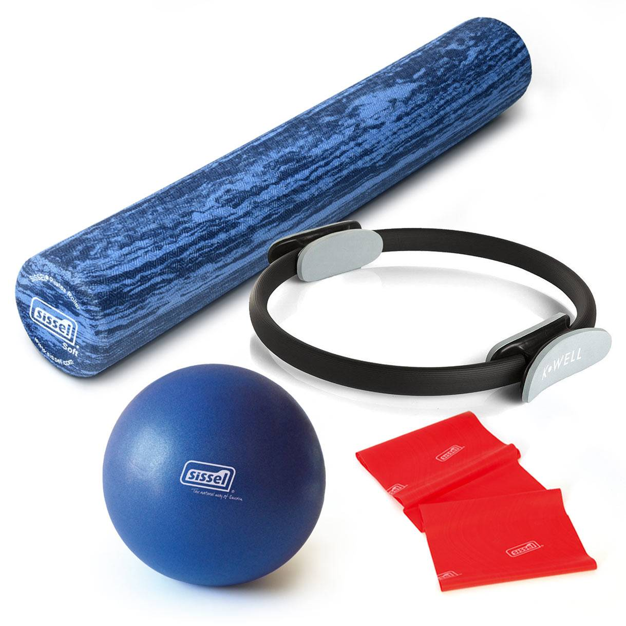 "HOME KIT IDEAPILATES ""SMART"": Soft Ball, Fitband, Circle e Roller"