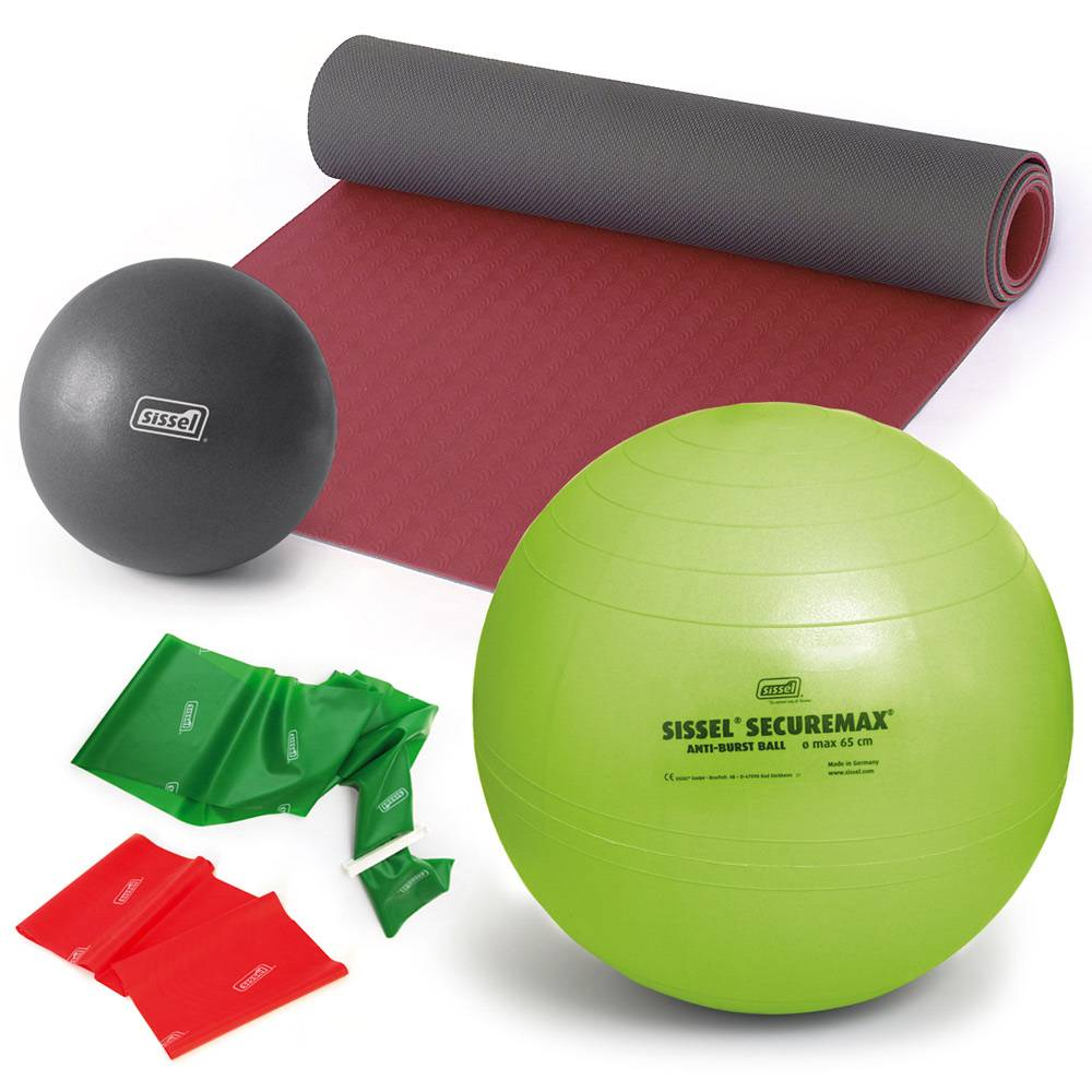 sissel kit pilates con giorgia 2: terra yoga mat - soft ball - fitball - fitband