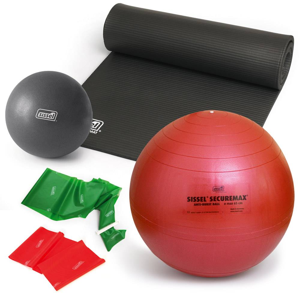 sissel kit pilates con giorgia 1: mat gym - soft ball - fitball - fitband