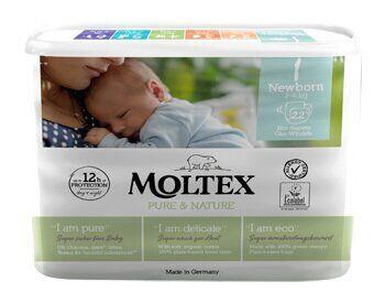 Ontex Moltex Pure & Nature Pannolini 2-4 kg taglia 1 22 pezzi