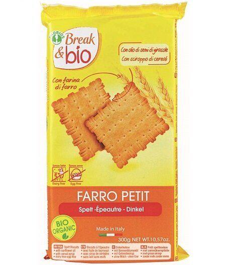 Probios Break & bio biscotti farro petit 100% 300 g senza uova