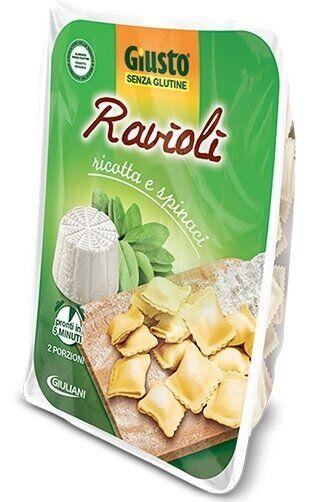 Giusto senza glutine ravioli ricotta e spinaci 250 g