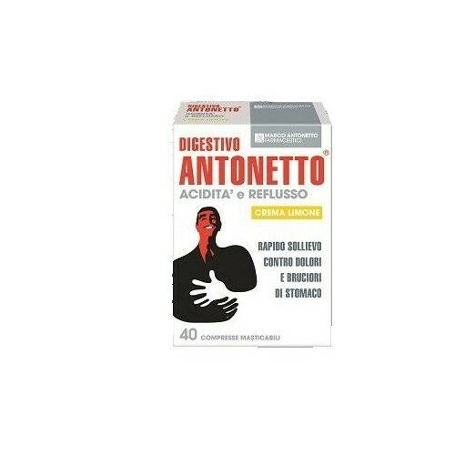 Digestivo Antonetto acidita' e reflusso 80 compresse masticabili 2 astucci da 40