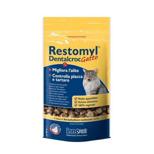 Innovet Italia Srl Restomyl dentalcroc gatto busta 60 g