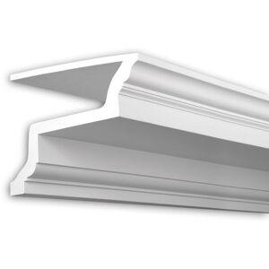 PROFHOME DECOR Cornice soffitto parete Profhome 401103 profilo di facciata modanatura modanatura tipo stucco stile neoclassico bianco 2 m - PROFHOME DECOR